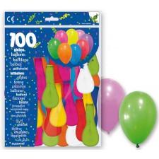 Paquet de 100 ballons de baudruche pas chers très colorés