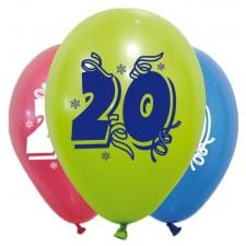 Ballons pour décoration d'anniversaire 20 ans