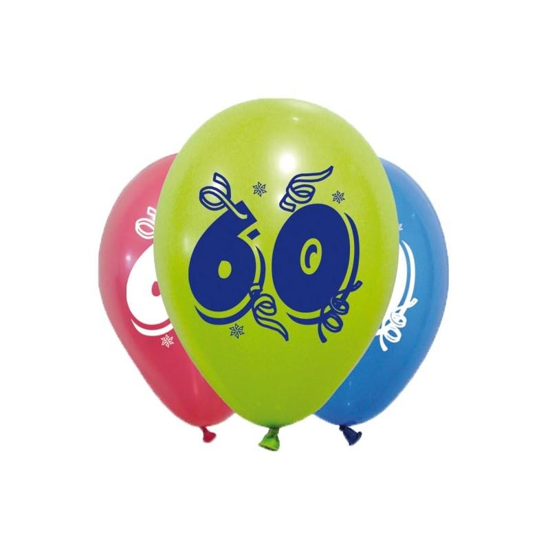 Ballons d'anniversaire pour fête des 60 ans