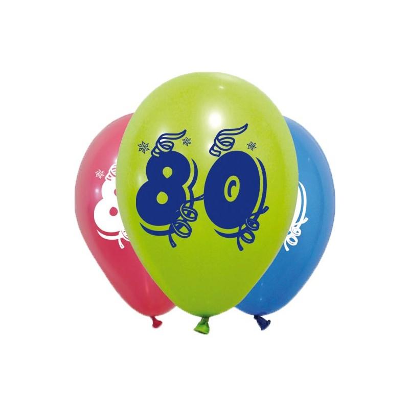 Ballons pour anniversaire 80 ans idéal en décoration