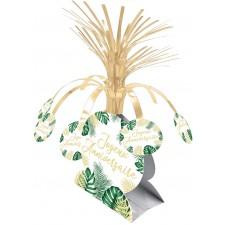 Centre de table anniversaire pour décoration de table chic thème tropical
