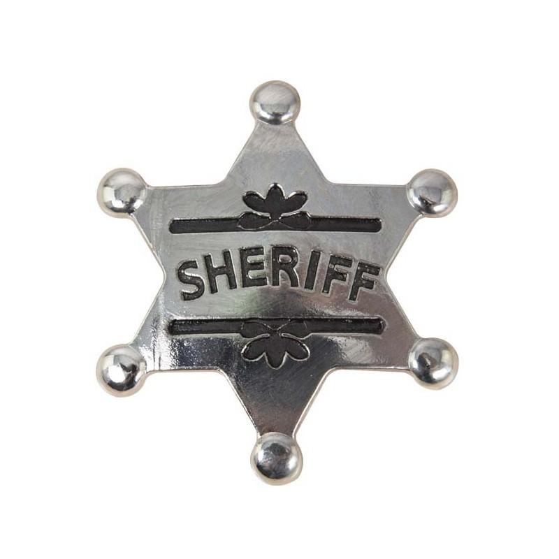 Étoile de shériff pour accessoiriser un déguisement