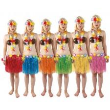 Jupes hawaïennes courtes pas chères pour soirée thème Hawaï
