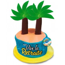 Chapeau pour départ à la retraite avec palmiers