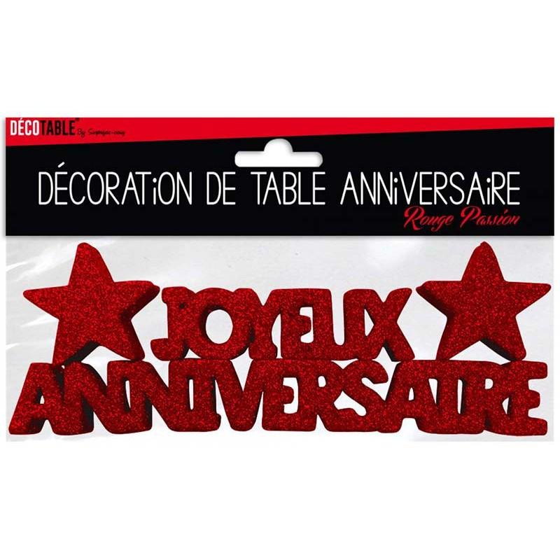 Décoration table anniversaire rouge