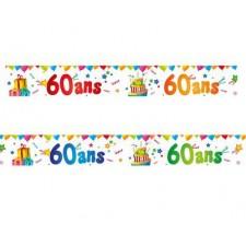 Lot de 4 bannières 60 ans spécial décoration anniversaire