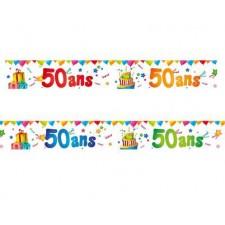 Bannières pour anniversaire 50 ans