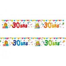 Bannières décoratives pour anniversaire 30 ans