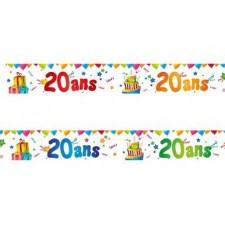 Bannière pour un anniversaire 20 ans