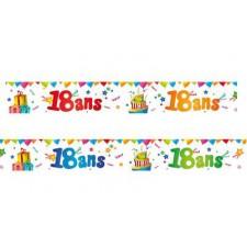 Bannières pour décoration anniversaire 18 ans