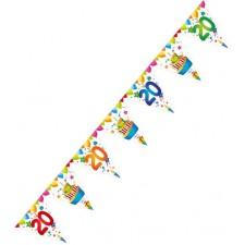 Guirlande pour décoration d'anniversaire 20 ans