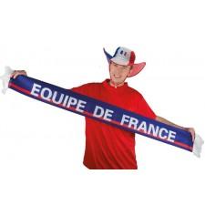 Écharpe de l'équipe de France bleu blanc rouge pour supporter
