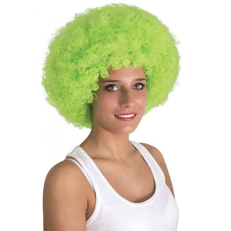 Perruque coupe afro verte adulte