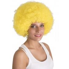 Perruque afro jaune adulte
