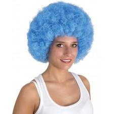 Belle perruque bleue avec coupe afro