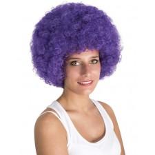 Perruque violette avec coupe afro