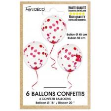 Paquet de ballons confettis rouges