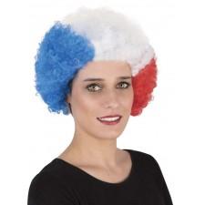 Perruque de supporter aux couleurs de la France