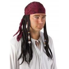 Perruque de pirate pour homme