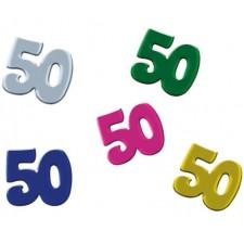 Confettis de table d'anniversaire pour les 50 ans