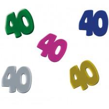 Confettis de table 40 ans décoratifs pour table d'anniversaire