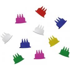 Paquet de confettis de table colorés en forme de gâteaux d'anniversaire