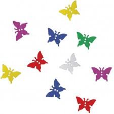 Paquet de confettis de table en forme de papillons