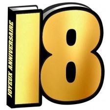 Livre d'or pour anniversaire 18 ans couleur noir et or