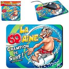 Cadeau humoristique tapis de souris 60 ans