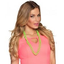 Collier à perles vertes pour accessoire Saint-Patrick