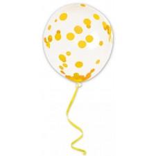 Ballon à confettis dorés