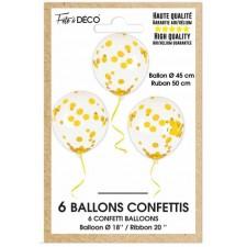 Ballons confettis couleur or