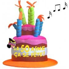 Chapeau musical pour cadeau d'anniversaire 50 ans