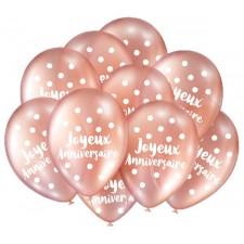 Ballon à gonfler rose gold pour anniversaire
