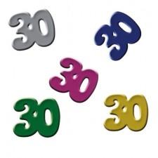 Confettis de tale 30 ans pour décorer une table d'anniversaire