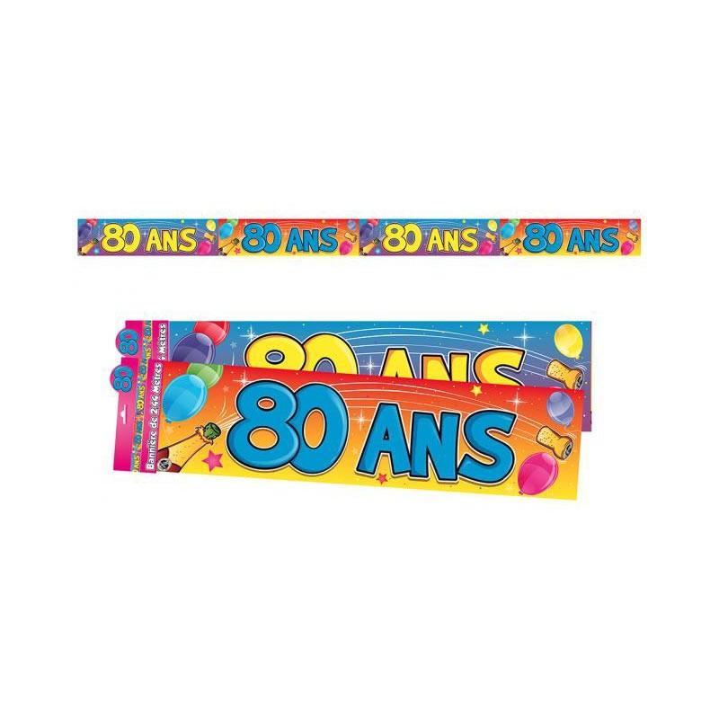 Banderole pour les 80 ans