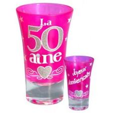 Shooter rose pour anniversaire 50 ans