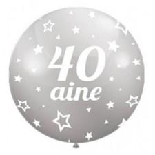 Ballons 40 ans argent pour décoration de salle d'anniversaire