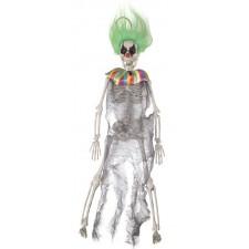 Petit squelette clown Halloween décoratif à suspendre