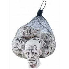 Têtes de zombies pour décoration d'Halloween effrayante