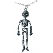 Collier squelette pour accessoiriser un déguisement d'Halloween