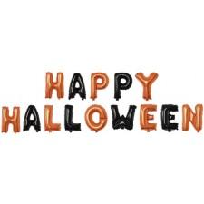 Ballons pour décoration d'Halloween noir et orange