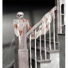 Rideau décoratif pour Halloween avec tâches de sang