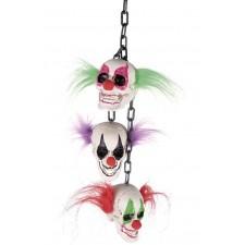 Chaîne décorative pour Halloween avec des têtes de clowns