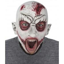 Masque de zombie d'Halloween avec la bouche ouverte