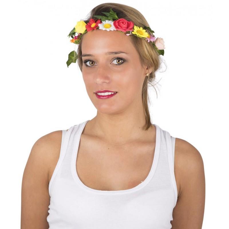 Accessoire sur le thème hippie couronne de fleurs