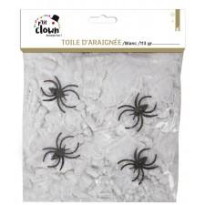 Toile d'araignée décorative blanche pour soirée d'Halloween