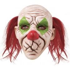 Masque de clown effrayant d'Halloween avec la bouche cousue