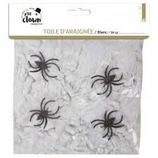 Toile d'araignée pour décorer une pièce lors d'une soirée sur le thème de l'horreur