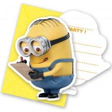Carton d'invitation Minions Moi moche et méchant anniversaire enfant